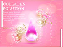 Premium shining serum droplet. Vector illustration. Stock Image