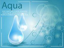 Premium shining serum droplet. Vector illustration. Royalty Free Stock Image