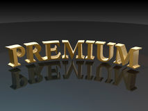 Premium Sign Stock Image