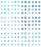 Premium Snowflake Collection. Collection of multy - style snowflakes Royalty Free Stock Photography