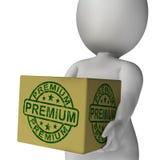 Premium Stamp On Box Shows Excellent Superior Premium Product Stock Images