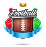 Premium symbol of American Football label Stock Photos