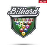 Premium symbol of Billiard label Royalty Free Stock Photo
