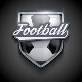 Premium symbols of Football Emblem Stock Photography