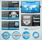 Premium templates and Web stuff master collection Stock Photography