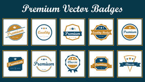 Premium Vector Badges Stock Photography