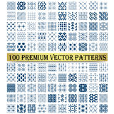 100 Premium Vector Patterns for Design. One hundred patterns for cute, classic, retro or vintage design. Design element for graphic design or web design Royalty Free Stock Photo