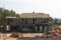 Premium Villa Under Construction Stock Images