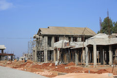 Premium Villa Under Construction Royalty Free Stock Photo