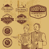 Premium Vintage Food Badges Vector Royalty Free Stock Photography