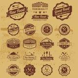 Premium Vintage Food Badges Vector Stock Photography
