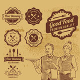 Premium Vintage Food Badges Vector Royalty Free Stock Photos