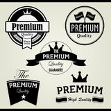 Premium vintage stamp and label. Set of Premium quality icon for stamps and labels Stock Image