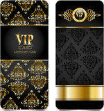 Premium vip cards Royalty Free Stock Images