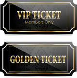 Premium vip tickets Stock Image