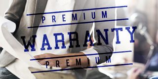 Premium warranty stamp seal of approval Stock Image