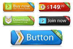 Premium web buttons v1 Royalty Free Stock Photos