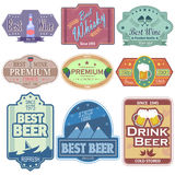 Premium Wine and Beer label tag sticker for Advertisement Royalty Free Stock Image