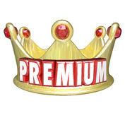 Premium Word Gold Crown Top Tier Paid Customer Stock Image