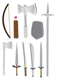 Premodern Combat Weapons Vector Illustration Royalty Free Stock Photos