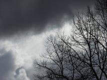 Premonição - céus tormentosos Fotografia de Stock