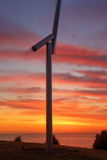 Premonition of Wind at Sunrise Stock Image