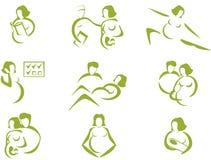 Prenataal en bevalling stock illustratie