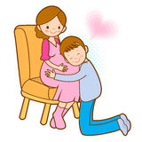 Prenatal care for pregnant women and her family. Marriage and Pa Royalty Free Stock Image
