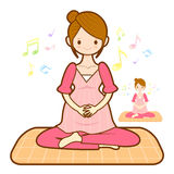 Prenatal maternal gymnastics mascot. Marriage and Parenting Char Royalty Free Stock Images