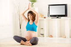 Prenatal Yoga Royalty Free Stock Photography