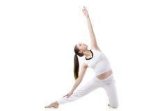 Prenatal Yoga, Gate pose Royalty Free Stock Photo