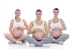 Prenatal yoga Stock Image