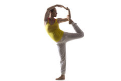 Prenatal Yoga, Lord of the Dance Pose Royalty Free Stock Images
