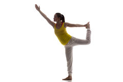 Prenatal Yoga, Nataradjasana Royalty Free Stock Images