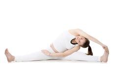 Prenatal Yoga, Upavishtha Konasana Stock Images