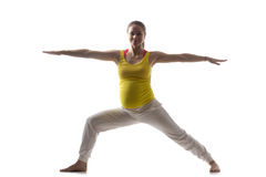 Prenatal Yoga, Virabhadrasana 2 Royalty Free Stock Photos