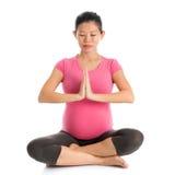 Prenatale yogameditatie Stock Afbeelding