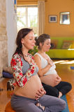 Prenatales Yoga Lizenzfreie Stockfotografie