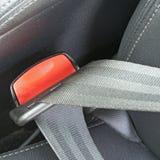 Prenda cintos de segurança no carro para a segurança Fotos de Stock
