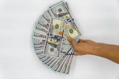 Prenda 100 dollari americani Fotografie Stock Libere da Diritti