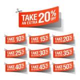 Prenda i buoni extra di una vendita Immagine Stock Libera da Diritti