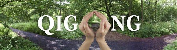 Prenda il percorso alla guarigione del gong di Qi Immagini Stock