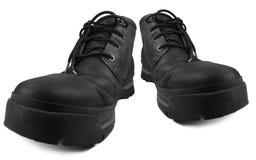 Prenda impermeable casual elegante diaria que camina las botas, estilo rugoso de cuero negro Men& cómodo elegante x27 de Nubuck G Fotos de archivo libres de regalías
