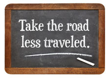 Prenda la strada più di meno ha viaggiato Fotografia Stock