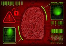 Prenda le impronte digitali all'accesso Immagini Stock