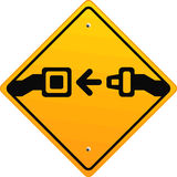 Prenda seus cintos de segurança! Fotografia de Stock