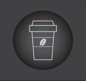 Prenda un'icona del segno del caffè con il logo dei chicchi di caffè Fotografia Stock Libera da Diritti