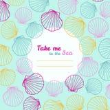 'Prendami invito al mare' Copi lo spazio illustrazione di stock
