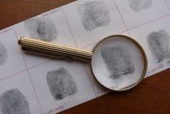 Prende le impronte digitali all'esame Fotografie Stock