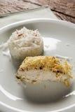 Prendedero de abadejos con arroz del coco Fotografía de archivo